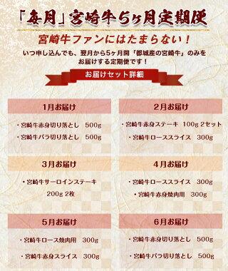 宮崎牛定期便(5ヶ月)