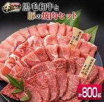 黒毛和牛と豚の焼肉セット計800g