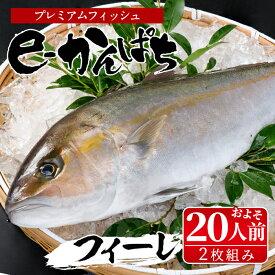 【ふるさと納税】東京オリンピック供給資格「AEL(養殖エコラベル)」認証取得のカンパチ!活き〆プレミアムフィッシュ「e-かんぱち」フィーレ(お刺身約20人前)【丸栄水産】【AG-CD2】