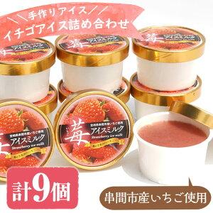 【ふるさと納税】串間市産イチゴ使用!いちごアイス詰合せ(9個)【たまたまクラブ】【AQ-A3】