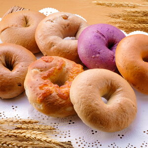 【ふるさと納税】新富町産 小麦で作ったベーグル 全7種 11個入り 添加物不使用 プレーン 黒糖 くるみ 紫いも とまと&バジル オニオンチーズ シナモンレーズン ふっくらもちもち 冷凍 送料無