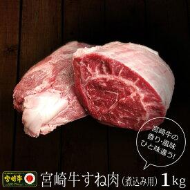 【ふるさと納税】宮崎牛 牛スネ 煮込み用 1kg 500g×2パック 牛すね肉 国産 小分け 冷凍 送料無料