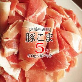 【ふるさと納税】 宮崎県産 豚 こま肉 5kg (500g×10パック)豚肉 こま切れ 冷凍 小分け 送料無料