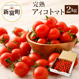【ふるさと納税】<予約受付> 新鮮 アイコトマト 2kg 国産 野菜 数量限定 2020年1月中旬〜5月までに順次発送予定 送料無料 ミニトマト 完熟 甘い