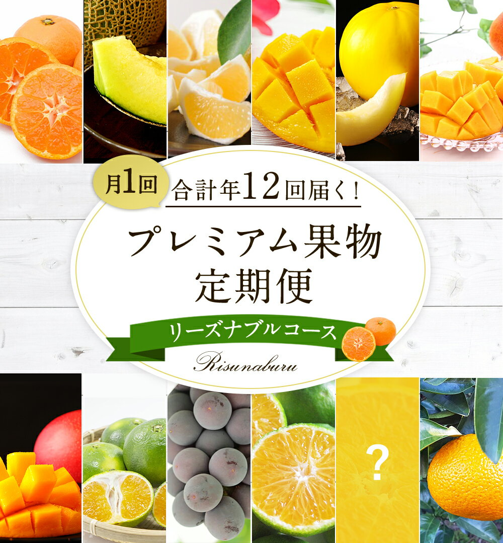 【ふるさと納税】プレミアム果物定期便 リーズナブルコース 合計12回 数量限定 フルーツ 定期 フルーツ みかん 完熟マンゴー メロン ぶどう 日向夏 スウィートスプリング