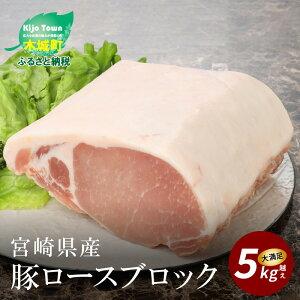 【ふるさと納税】宮崎県産豚ロースブロック 5kg越え 【宮崎県木城町】