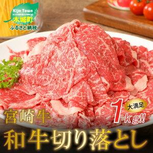 【ふるさと納税】<宮崎牛 和牛 切り落とし 1kg> K01_0011 送料無料【宮崎県木城町】
