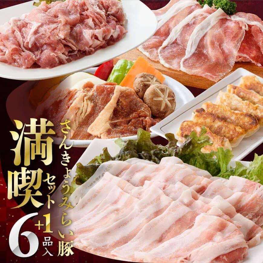 【ふるさと納税】大人気のブランド豚肉セット!さんきょうみらい豚満喫セット6月発送分