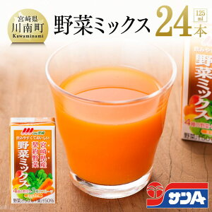 【ふるさと納税】サンA Oh!宮崎 野菜ミックス125ml×24本セット