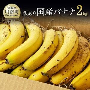 【ふるさと納税】訳あり 国産バナナ 2kg