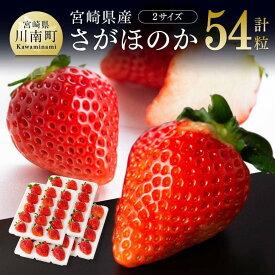 【ふるさと納税】※令和3年発送※宮崎県産いちご!さがほのかセット(15粒×2パック、12粒×2パック)!人気のイチゴ