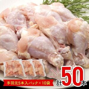 【ふるさと納税】宮崎県産若鶏手羽元(5本小分けパック)10袋