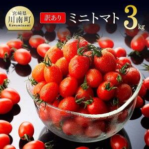 【ふるさと納税】 訳あり 宮崎県産ミニトマト3kg 九州産 川南町産 野菜 ヘルシー G7207