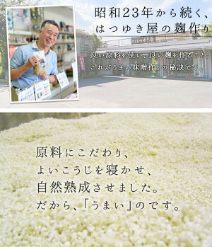 【ふるさと納税】無添加味噌詰合せ(麦みそ、合わせみそ、玄米みそ、米みそ各1kg、総合計4kg)甘口減塩みそ【はつゆき屋】