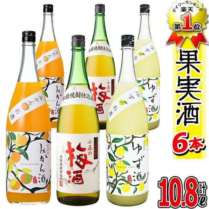 【ふるさと納税】小正のリキュール1升瓶6本セット 小正醸造