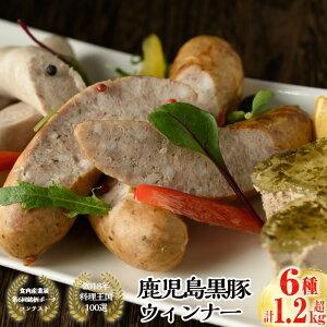 【ふるさと納税】鹿児島黒豚肉の無添加手作りウインナー詰め合わせセットB 6種 計1g超【大成畜産】