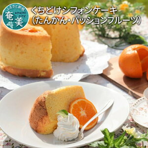【ふるさと納税】 シフォンケーキ 2種 たんかん パッションフルーツ 18cm 冷凍 のし対応 ギフト プレゼント
