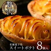 【ふるさと納税】≪数量限定≫鹿児島特産スイートポテトタルト湧水の里(55g×8個)焼き芋のペーストを贅沢に!ブルーベリーをアクセントに仕上げたさつま芋スイーツ!【きくすい堂】