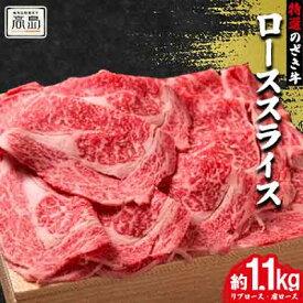 【ふるさと納税】特選のざき牛ローススライス約1.1kg