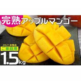 【ふるさと納税】農園直送!ご家庭用でも極上に美味しい完熟アップルマンゴー1.5kg 【2021年発送】