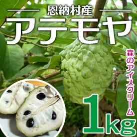 【ふるさと納税】【2021年発送】森のアイスクリーム 恩納村産アテモヤ 1kg