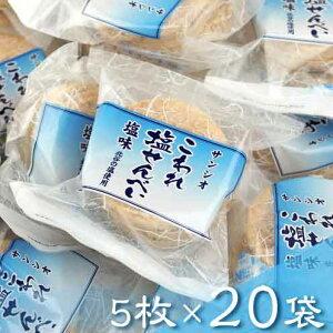【ふるさと納税】こわれ塩せんべい 塩味(5枚×20袋入り)
