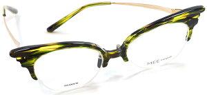【 おしゃれ メガネ 】MEE EYEWEAR《 Proud Crane 》ミーアイウェア プラウドクレーン [眼鏡][メガネ][ナイロール][コンビフレーム][ファッション][日本製][福井県鯖江産] 伊達眼鏡 伊達メガネ メンズ