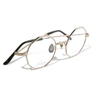 【 おしゃれ メガネ 】西出和男 作《 NK-752 》NISHIDEKAZUO SAKU ニシデカズオ サク [眼鏡][メガネ][オクタゴン][チタン][クラシック][日本製][福井県鯖江産] 伊達眼鏡 伊達メガネ メンズ レディース