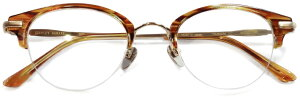 【 おしゃれ メガネ 】STANCEYRAMARS《 M86 》スタンシーラマーズ [眼鏡][メガネ][ボストン][ハーフリム][ナイロール][チタン][日本製] [福井県鯖江産] 伊達眼鏡 伊達メガネ メンズ レディース 男女
