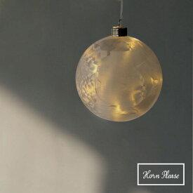 LEDライト GLASS フロスト アイスフラワー プラネット L オーナメント 飾り プレゼント ギフト 【あす楽対応】
