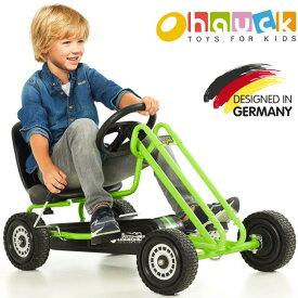 【即納】ドイツの名門ハウク・ライトニング・ゴーカート<Hauck Lightning Pedal Go Kart>ゴーカート ペダルカー 乗用玩具 乗用おもちゃ 乗り物 のりもの おもちゃ 海外 足こぎ 子供 子供用 女の子 男の子 外遊び 屋外 おしゃれ 誕生日プレゼント 贈り物