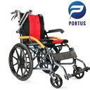 【訳ありノークレ・ノーリタ】ポルタス・バディー・ライト 車椅子 軽量 折り畳み車いす 車イス ブレーキ 自走 送料無…