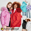 Seven colors of rial fur food outer down coats which a real down jacket has a cute in winter