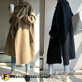 Oversize is digested mantle wool blend coat stands collar; a feeling