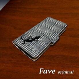 Fave グレンチェック トカゲ iPhoneケース iPhone 11 Pro XS Max XR 8 8Plus 7 7Plus SE 6 6s 6Plus 6sPlus 5 5s 5c 手帳型 PU レザー スマホケース ケース カバー スマホカバー アイフォン オリジナル ヤモリ ゲッコー 爬虫類 ペット 動物 アニマル ホワイトデー 父の日