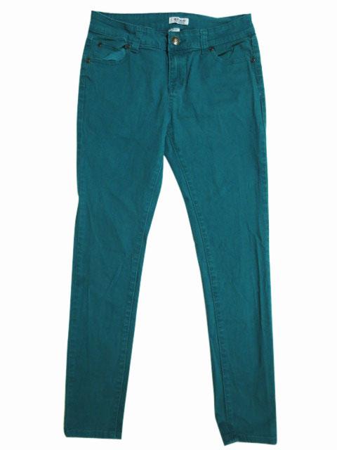 【中古】 BLUE CRUSH スキニー カラー パンツ エメラルドグリーン 【W30 L29.5】【SKINNY】【あす楽対応】【古着屋mellow楽天市場店】