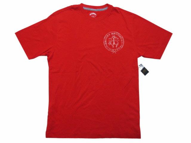 【新品】 BROOKS BROTHERS/ブルックスブラザーズ ロゴプリント 半袖 Tシャツ 赤【サイズ:S , M】【あす楽対応】【古着 mellow楽天市場店】