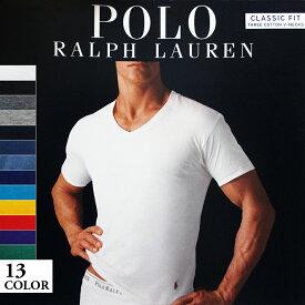 【ゆうパケット対応】【新品】 POLO RALPH LAUREN/ラルフローレン CLASSIC FIT 半袖 Vネック Tシャツ 【13カラー】【サイズ:S , M , L】【アンダーウェア】【無地】【ワンポイント】【あす楽対応】【古着屋mellow楽天市場店】