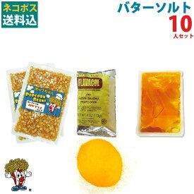 1000円ポッキリ 送料無料 バターソルトポップコーン10人材料セット
