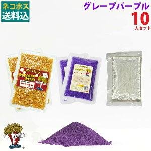 1000円ポッキリ 送料無料 グレープパープルポップコーン10人材料セット