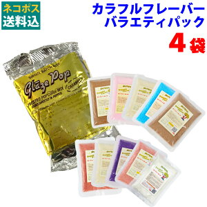 バラエティパック 100g×4袋セット【キャラメル×1/チョコレート×1/レッドストロベリー×1/メイプル×1】