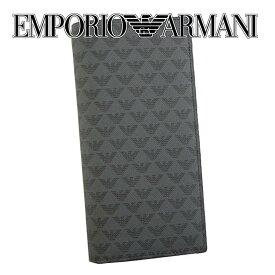 エンポリオアルマーニ EMPORIO ARMANI メンズ 小銭入れ付 サイフ 長財布 [Y4R060-YG91J-81072/BLACK]