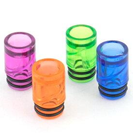 液が飛びにくいスパイラル構造 ドリップチップvape ジョイテック 互換 カラースパイラルドリップチップ510
