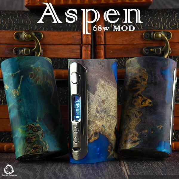 送料無料【 アークティックドルフィン アスペン 】【 スタビライズドウッド 】【 BOXMOD 】 ArcticDolphin Aspen 68W Box Mod