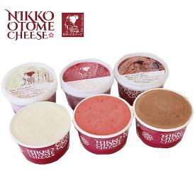 生乳生産量本州No.1を誇る栃木県から生まれた美味しいチーズを使用したオリジナルのスイーツ<日光乙女ジェラート厳選ジェラート6個セット>栃木県産品日光市