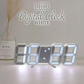 デジタル LED クロック デジタル 時計 3D インテリア おしゃれ 置き時計 壁掛け時計 多機能 リビング ウォールクロック コンパクト 北欧 西海岸 ベッドルーム かわいい ギフト プレゼント あす楽対応【メール便送料無料】
