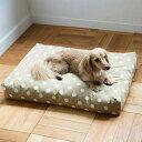 【犬 ベッド】ウォッシャブル スクエア ベッド M サイズ 犬フリーステッチ おしゃれ 洗える シンプル ペット 水玉 ふかふか