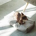 【犬 ベッド】ハードマンズ フレンチ リネン スクエア ベッド S サイズペットソファ コットン ペット用品 ペット用 グ…