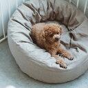ハードマンズ フレンチ リネン ラウンドベッド 犬用