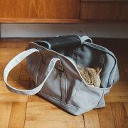猫のキャリーバッグ♪スクエアトートSサイズ【ネコ/キャリーバッグfreestitch/キャリーバック/carrybag/キャリーバッグ】